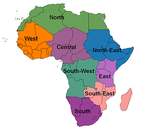 Map Of Africa Regions.Africa Osm Topo Routable Gmaptool